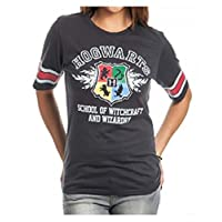 Camiseta de hockey negra Bioworld Harry Potter Hogwarts Juniors (grande)