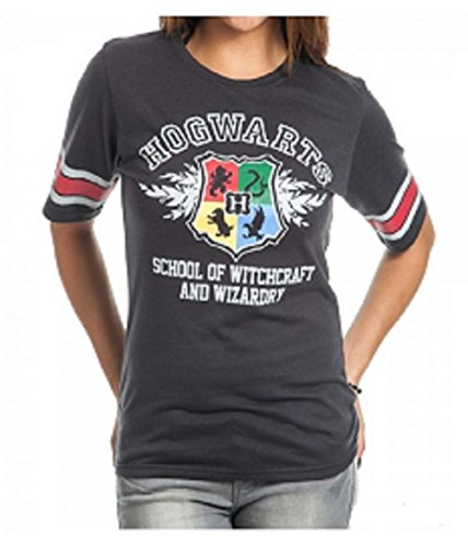 Potter Wardrobe Harry - Bioworld Harry Potter Hogwarts Juniors Black Hockey T-Shirt (X-Large)