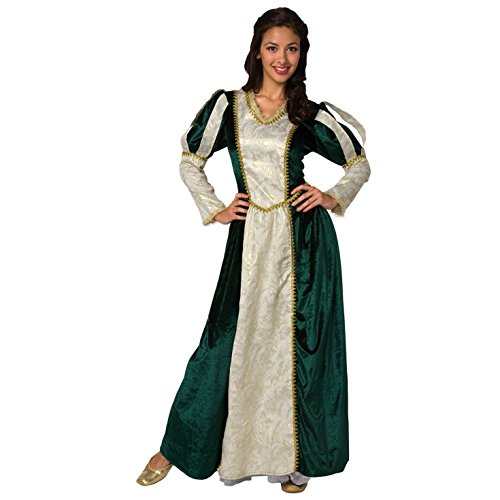 Womens Medieval Queen Costume Renaissance Adults Ladies Teen Princess Size Med -