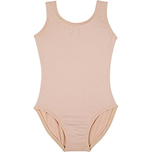 Nylon Onesie - Infant Baby Girl Tank Leotard for Dance, Gymnastics, and Ballet Sleeveless Nude T (12-24M)