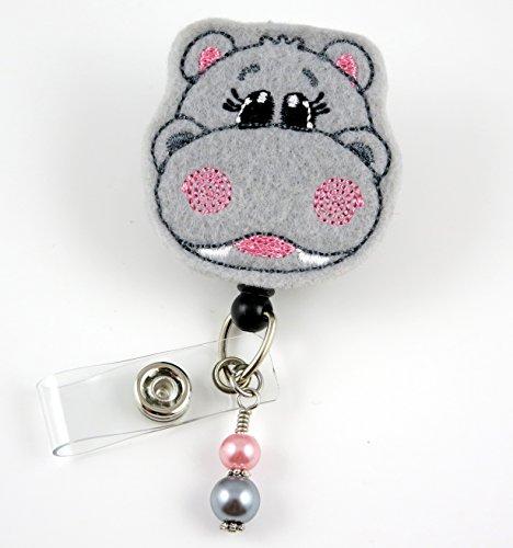 Happy Hippo - Nurse Badge Reel - Retractable ID Badge Holder - Nurse Badge - Badge Clip - Badge Reels - Pediatric - RN - Name Badge Holder