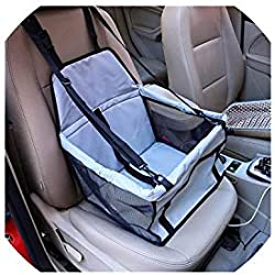 Pet-Carriers900D Nylon Waterproof Travel 2 in 1 Carrier for Dogs Folding Thick Pet Cat Dog Car Booster Seat Cover Outdoor Pet Bag Hammock,Mesh Side-Gray,M