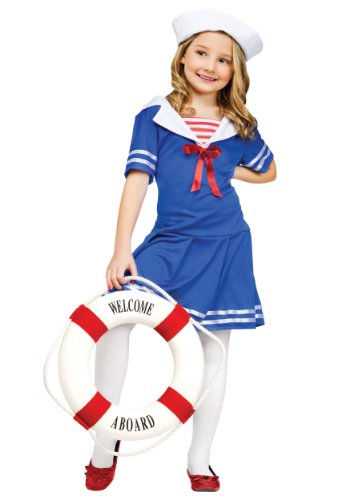 Fun World Little Girl's Med/sea Sweetie Chld Cstm Childrens Costume, Multi Color, Medium]()