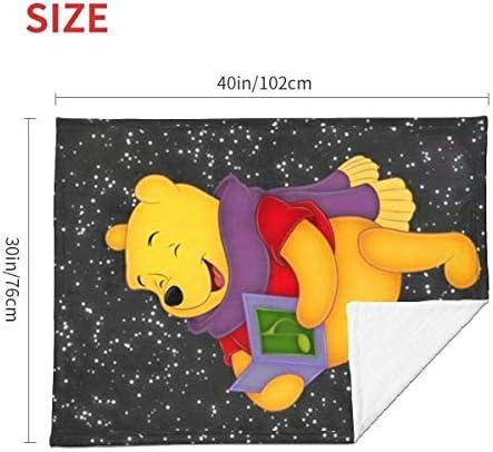 shihuainingxianruandans Couverture de bébé de Confort, Couverture Chaude Douce de Winnie Heureuse pour la Poussette Nouveau-née Infantile Voyage en Plein air