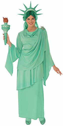 Rubie's Women's Classic Lady Liberty Costume, Green, -
