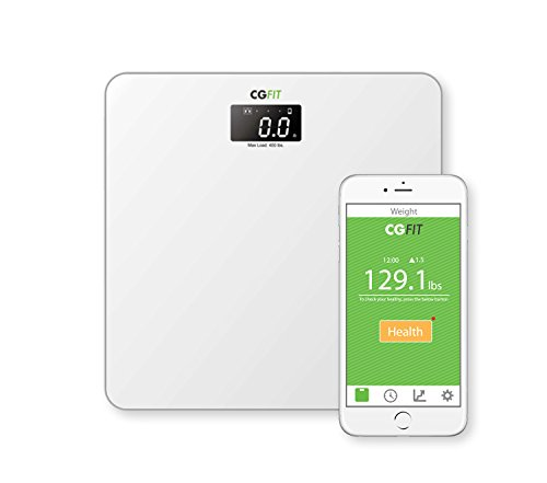 Concept Green CGFit Wireless Ultra Sonic Sound Smart Bathroom Scale, White