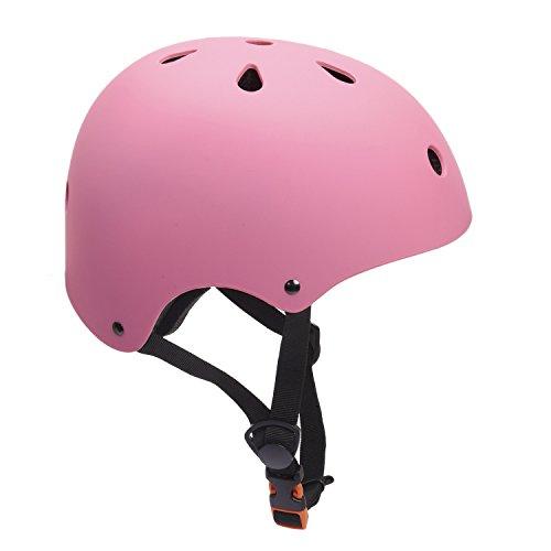 Cheap Glaf Adjustable Kids Helmet CPSC Certified Impact Resistance Ventilation for Multi-Sports, Cycling Skateboarding Bike BMX Scooter Toddler Helmet (Pink, Small)