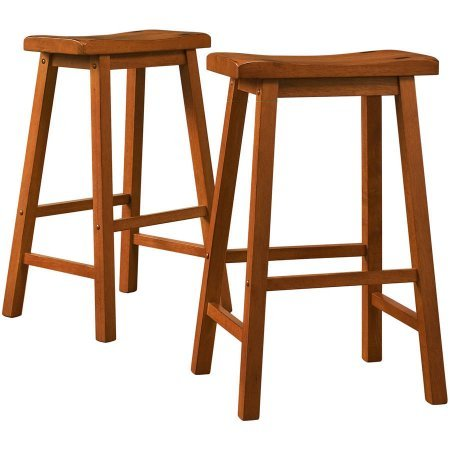 Bar Stool / Counter Stool, Ashby Bar Stools 29'' 5302A29(3A)[2PC] in Oak Finish, Set of 2