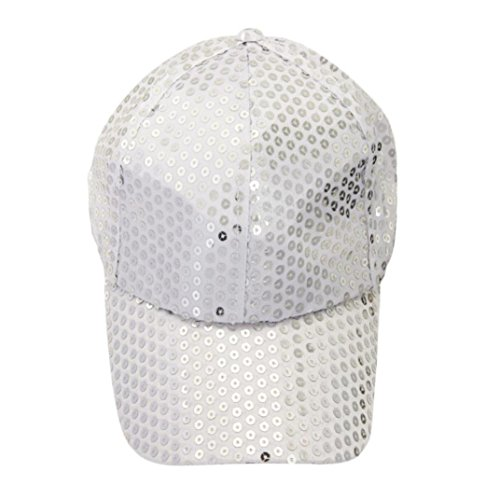 Sequin Baseball Cap (Voberry Women Sequins Shiny Flashy Sunscreen Baseball Hat Ball Cap Adjustable)