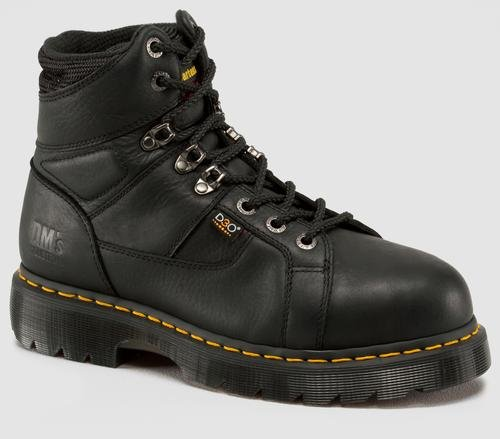 Metatarsal Safety Guard Boots (Dr. Martens Men's Ironbridge Steel IM Boot,Black Industrial Grizzly,7 UK/8 M US)