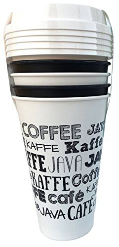 Aladdin 5 Reusable To-go Cups - Fresh Coffee White by Aladdin