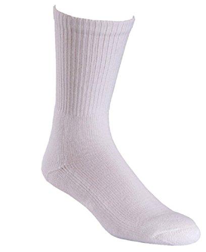 Fox River Soft Toe Uniform All Weather Crew Cut Work Socks, Large, White (Toe White Uniform Socks)