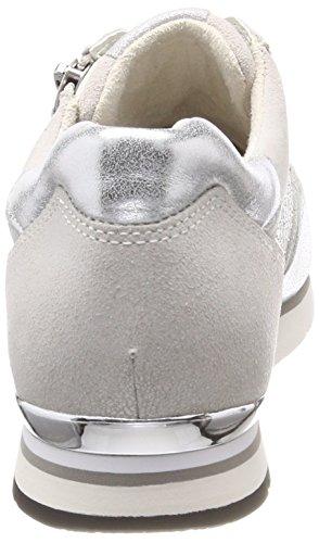 Gabor Ice Argento Femme Derbys Gabor Shoes Blanc Marmor Casual FnxYqp4w5