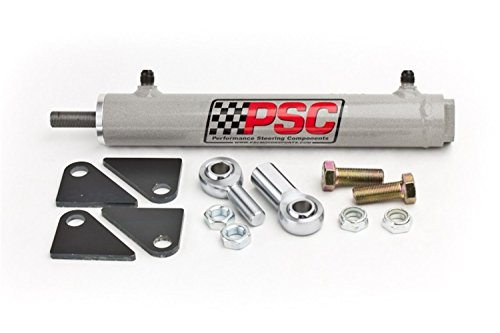 (PSC Motor Sports SC2200K Power Steering Assist Cylinder 1.5 Bore x 8 Stroke x .625 Rod w/Rod Ends And Mount Hardware Power Steering Assist Cylinder)