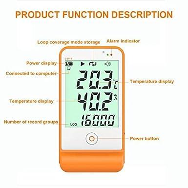 Registratore di dati Gsp-6 Registratore di dati di temperatura e umidit/à Catena di refrigerazione a 16000 punti