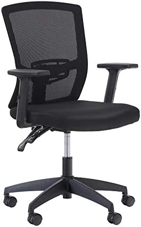 MAISON ARTS Mesh Office Chair Ergonomic Home Desk Chair Mid-Back Computer Task Chair with Breathable Mesh and Adjustable Armrests for Home Office