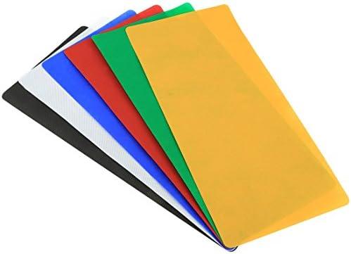 KANEED カメラアクセサリー 撮影機材 6 PCS 折り畳み式写真スタジオの背景、6色(黒、白、赤、青、オレンジ、緑)、サイ