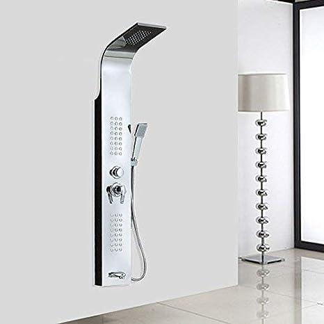 Ducha Mampara de ducha termostática Ducha de acero inoxidable Juego de ducha Ducha multifunción Grifo de ducha Cuerpo Ducha Baño Mezclador de ducha Grifo: Amazon.es: Bricolaje y herramientas