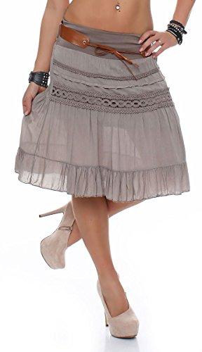 ceinture 8220 t Taille ligne Femme midi Unique malito Stretch Fango mini jupe avec A wt6zdqfz