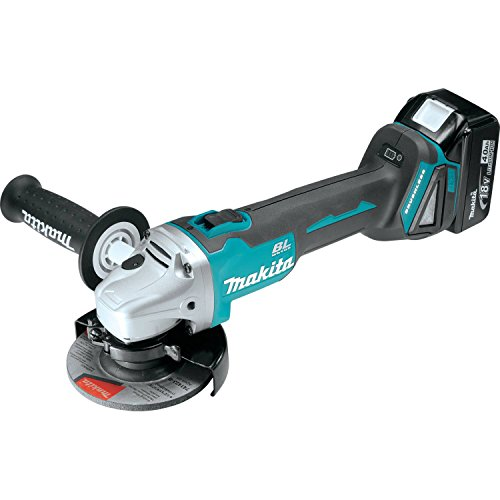 Makita XAG03M 18V LXT Lithium-Ion Brushless Cordless Cut-Off/Angle Grinder Kit, 4 1/2-Inch (Discontinued by Manufacturer) For Sale