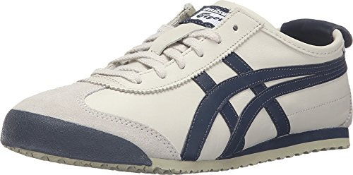 Onitsuka Tiger Mexico 66 Fashion Sneaker, Birch/India Ink/Latte, 12 M Men's US/13.5 Women's M US DL408.1659
