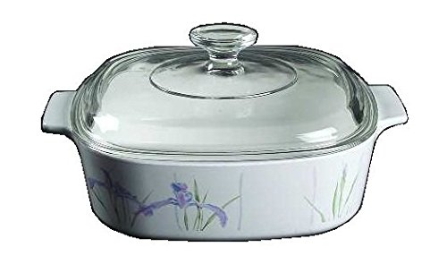 2 Quart Square Covered Casserole (Corning Ware Shadow Iris Square Casserole w/ Lid ( 2 Quart ) ( A-2-B ))