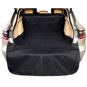 Arkmiido Pets Cargo Cover & Liner for Dogs, Waterproof Dog Seat Cover Mat for SUVs and Cars with Extra Bumper Flap Protector,Machine Washable 80 x 52 Black -Universal Fit 59