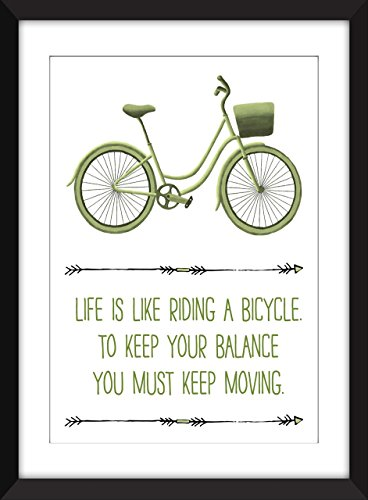 is Like Riding A Bicycle Unframed Print ()