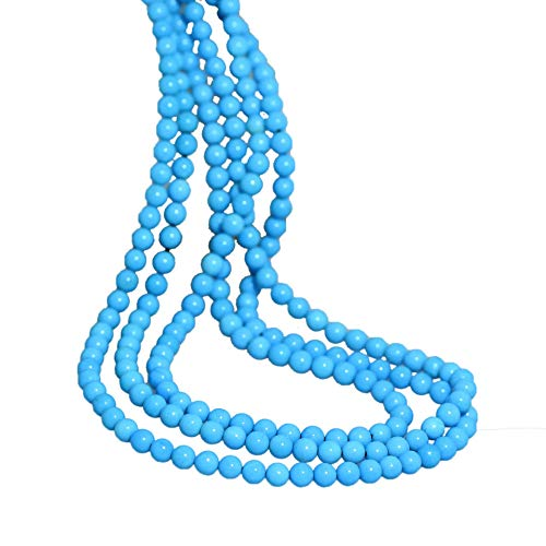 Sleeping Beauty Stabilized Turquoise - AAA SLEEPING BEAUTY Turquoise Beads Round 4.2-4.4mm 18