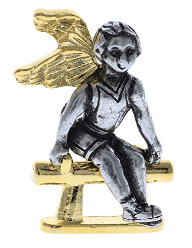 Sujak Military Items Gymnast Angel Lucky Charm Hat or Lapel Pin ()