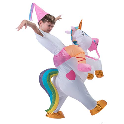 Spooktacular Creations Inflatable Riding a Unicorn Air Blow-up Deluxe Costume - Child One Size Fits 4-8yr (40''-52'' Height) by Spooktacular Creations (Image #4)