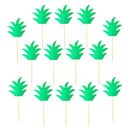 Jimcoser 24 Pack Pineapple Cupcake Toppers Donut Decor for Summer and Halloween Party