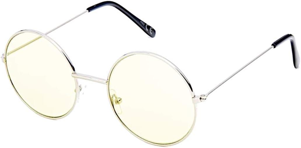 Unisexe Cadre Argenté avec Couleur de lentilles de John Lennon Type Ronde Lunettes de soleil