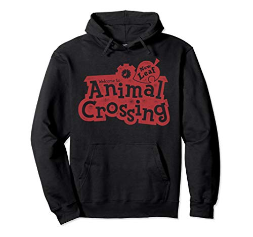 (Animal Crossing Red Distressed Logo Graphic)