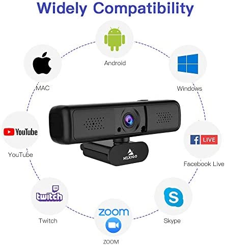 2K QHD Webcam with 3X Digital Zoom and Privacy Cover, 2021 NexiGo 1440P USB Streaming Web Camera, 80 Degree Widescreen for Online Class Zoom Meeting Skype Teams, PC Mac Laptop Desktop