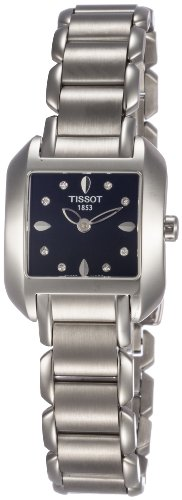(Tissot Women's T02128554 T-Wave Black Diamond Dial Watch)