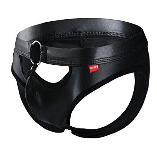 Appoi Fashion Mens Sexy Boxer Briefs Shorts Soft Underwear Bulge Pouch Underpants Black Briefs For Men Boss (Black, S) Boss Black Boxer