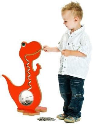 Dinosaure Dinosaure Piggy Bank Kids Money Box Couleur vibrante Bo/îte /à monnaie 50 cm, Rouge Kids Piggy Bank