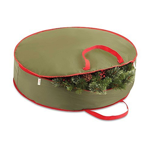 Decorative Durable Easily Collapsed 36-Inch Holiday Wreath Storage Bag