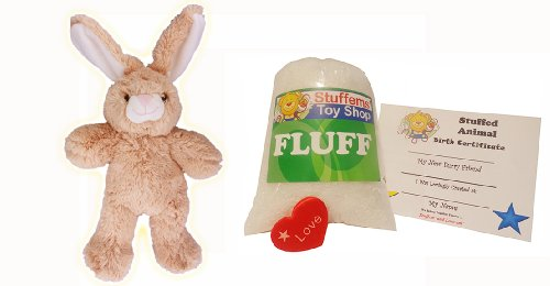 Make Your Own Stuffed Animal Mini 8 Inch Floppy Ear Bunny Kit - No Sewing - Stuffable Animal