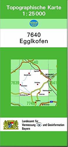 TK25 7640 Egglkofen: Topographische Karte 1:25000 (TK25 Topographische Karte 1:25000 Bayern)
