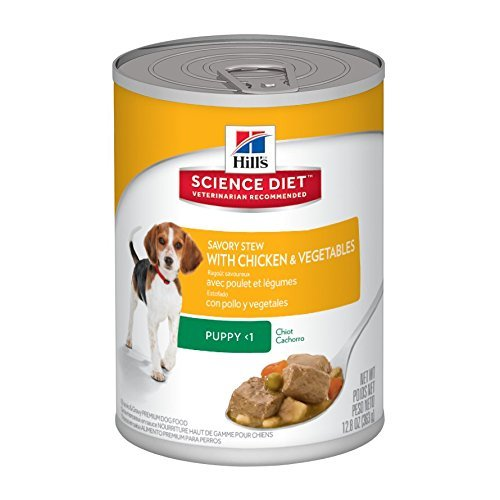 Hill's Science Diet Puppy Savory Stew Chicken and Vegetables Dog Food Can, 12.8-Ounce, Pack of 12 by Hill's Science Diet