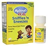 Hyland's 4 Kids Sniffles 'n Sneezes Quick-Dissolving Tablets, 125 Count