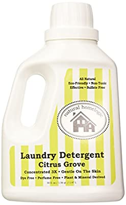 Natural HomeLogic Eco Friendly Laundry Detergent, 50 oz | Gentle on the Skin | Powerful & Pure Non-Toxic Cleaning | Plant & Mineral Derived | Concentrated 3X | Up to 40 Loads