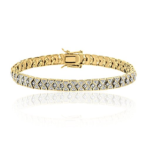 Lumineux Diamond Womens Diamond Accent Bow-Design Tennis Bracelet