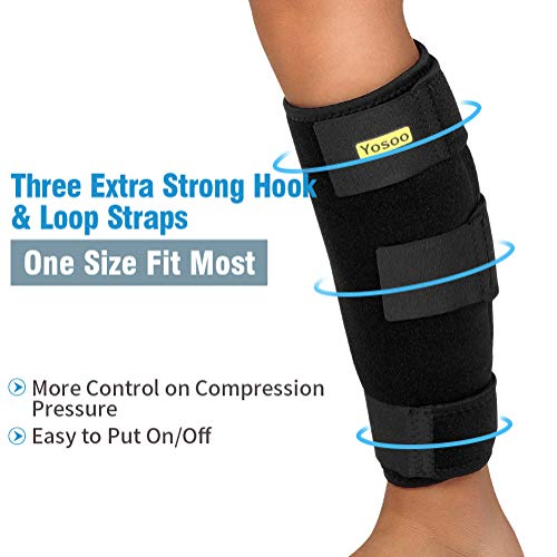 3aed08f1e1 Calf Support Brace Adjustable Shin Splint Breathable Neoprene Compression  Calf Sleeve for Relieving Tight Calves, Muscle Pain, Torn Calves, Swelling,  ...