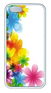 iPhone 5 5S Case Patterns Colorful Flowers TPU Custom iPhone 5 5S Case Cover White