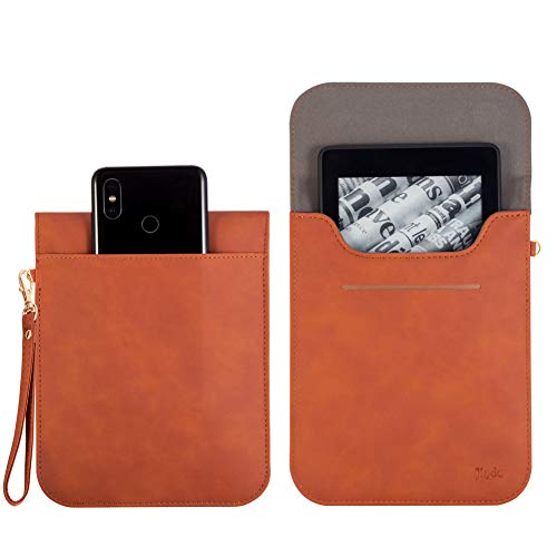 Sleeve Pouch Bag Case for All New Kindle 2019 & Kindle Paperwhite & Voyage Tablet Cover Portable Carry Bag,6 inch Pocketbook Ebook Cover with Hand Strap and Extra Storage Pocket for Accessories ()