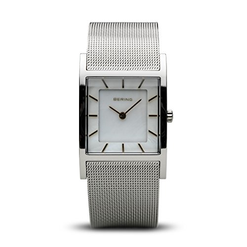 BERING Time 10426-010-S Womens Classic Collection Watch with Mesh Band and scratch resistant sapphire crystal. Designed in Denmark.