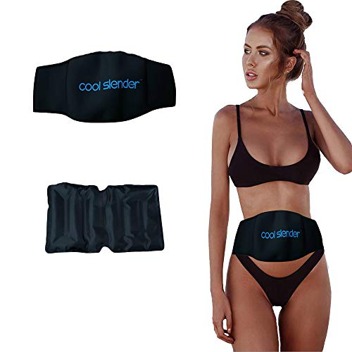 Cool Slender Fat Freezing Kit - at-Home Fat Freezing - Simple Fat Loss Cold Body Sculpting Wrap - Fat Freezer (Slender Spa Body Wrap)
